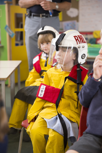Students Dressed as Fire Fighters