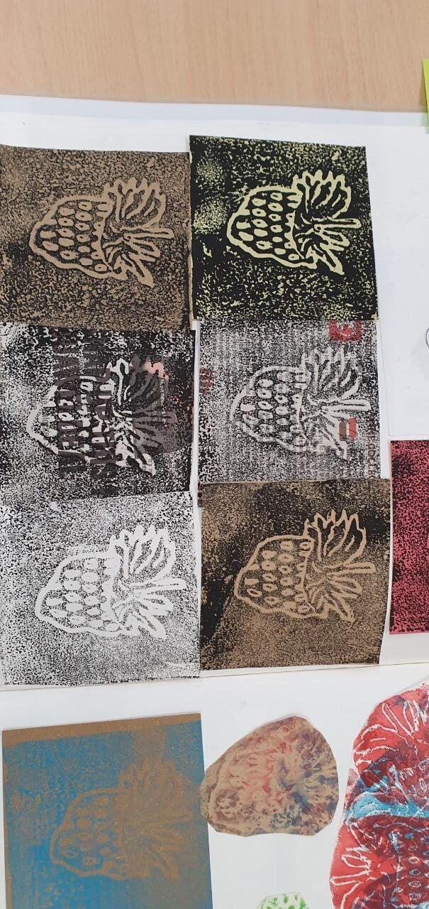 Y Press print strawberry prints