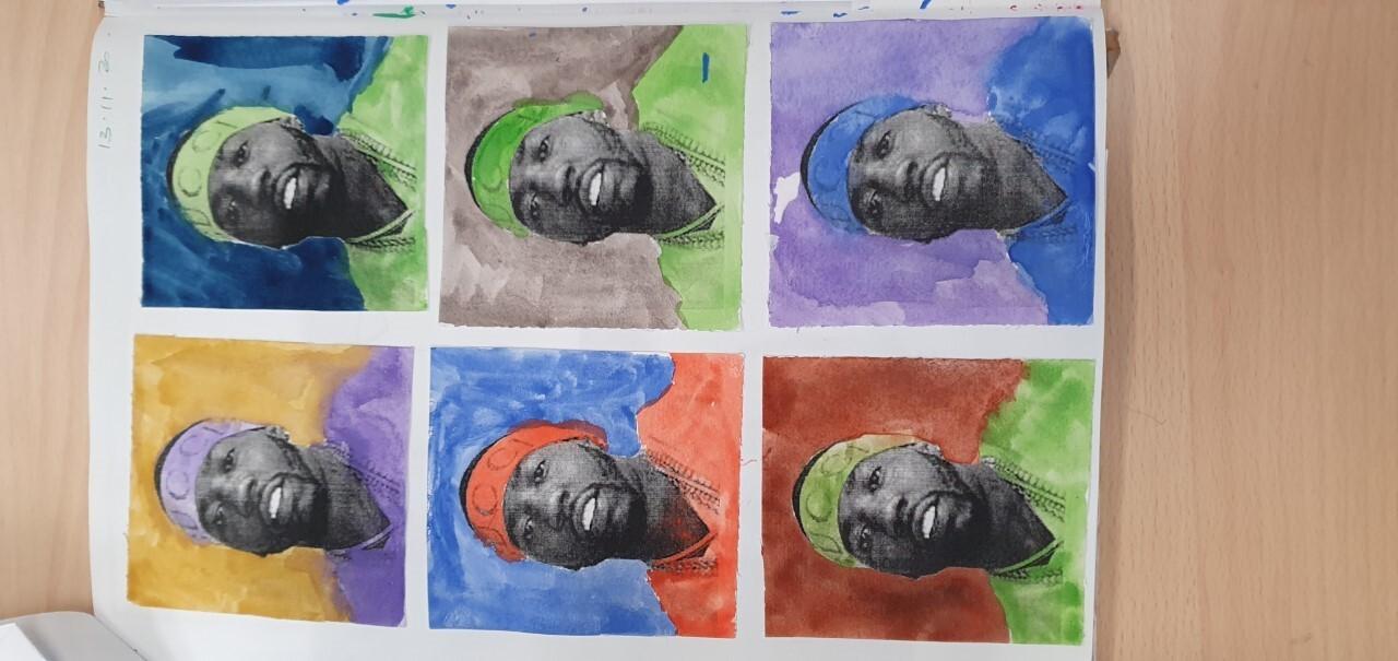Y water colour Passport portraits
