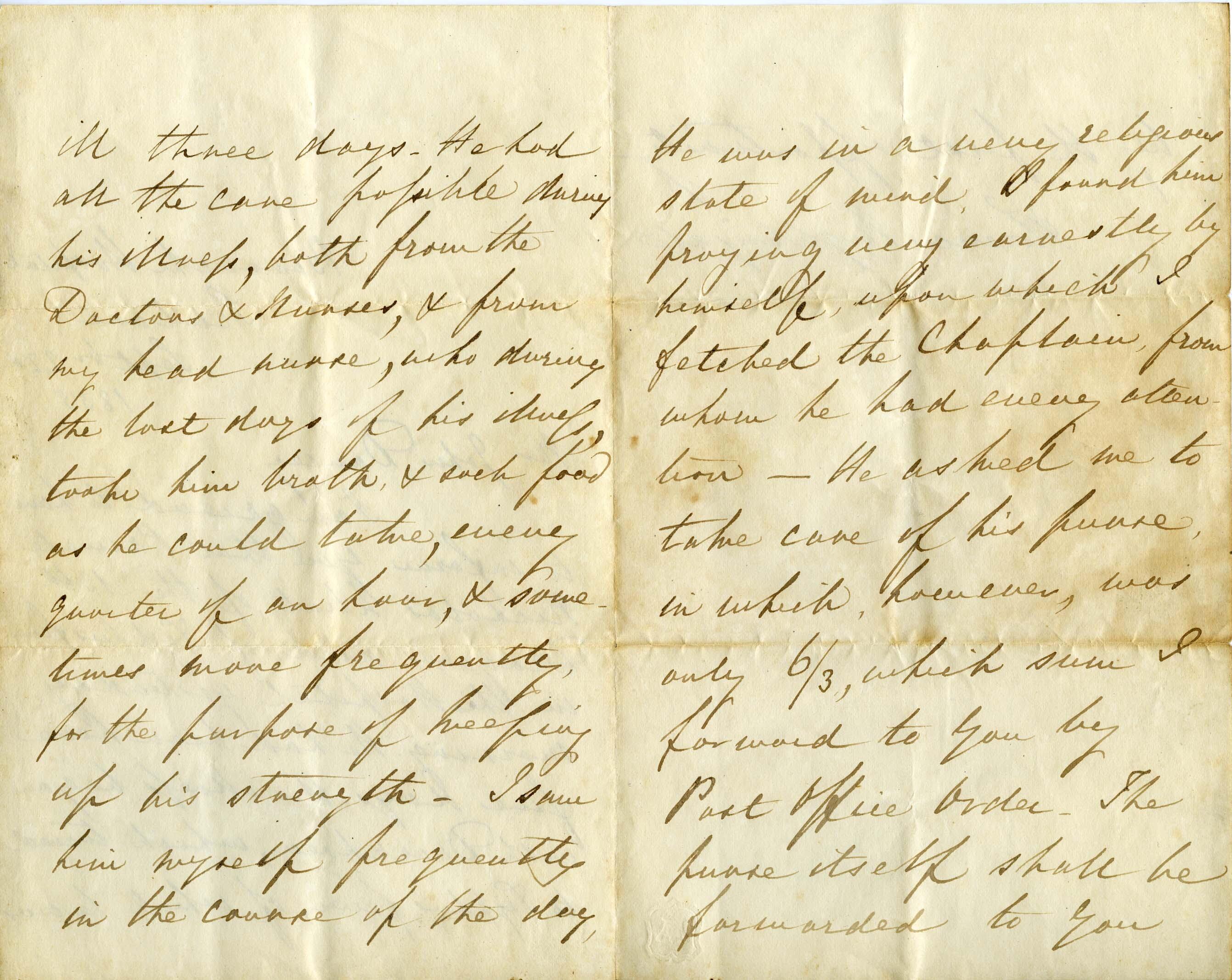 Florence Nigtingale letter