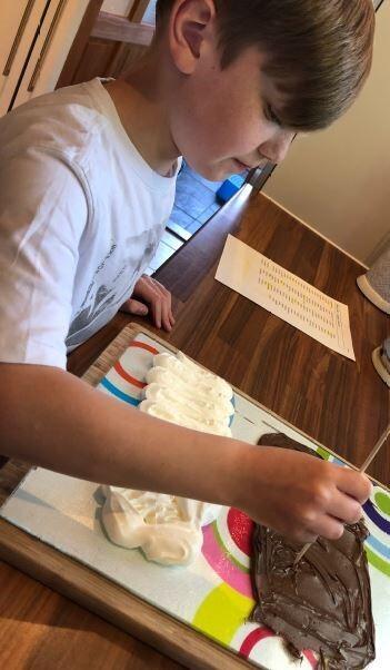 Jacob spelling practice