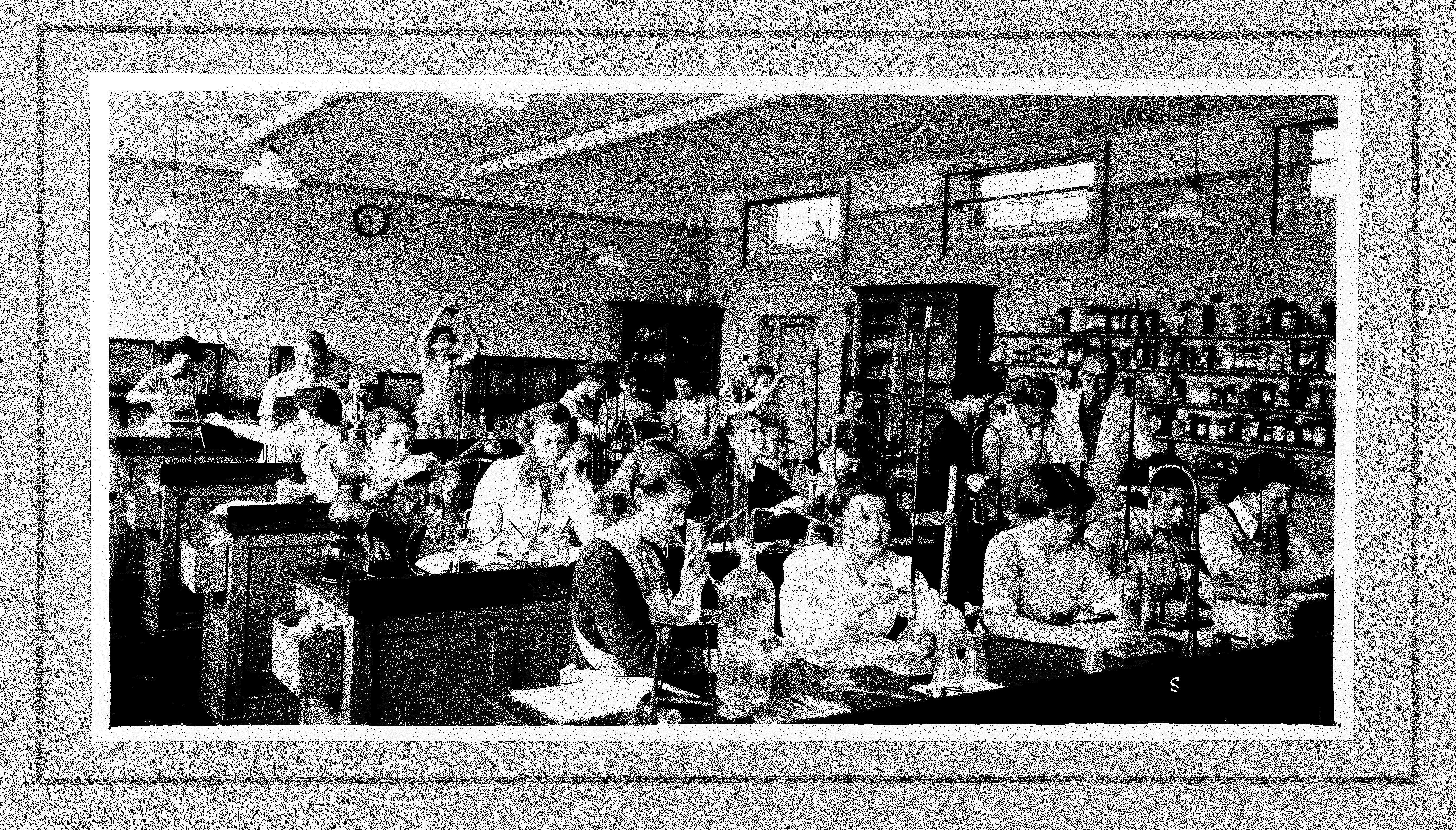 Photo Album 1954 chemistry