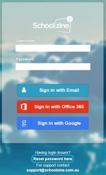 KB Reset Pass Login Screen